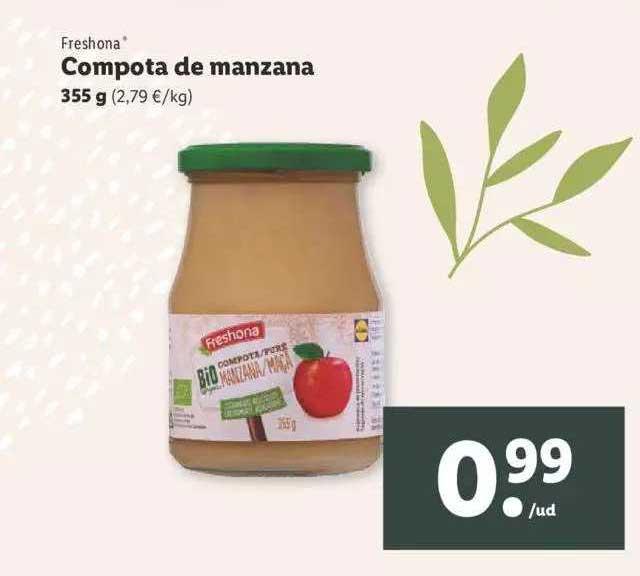 LIDL Freshona Compota De Manzana 355g