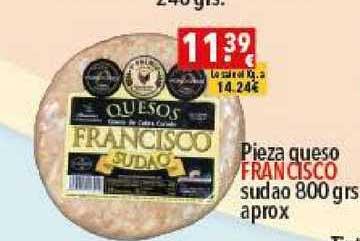 Supermercados Extremadura Pieza Queso Francisco Sudao