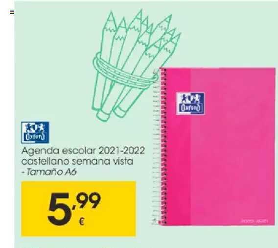 EROSKI Agenda Escolar 2021+2022 Castellano Semana Vista Oxford