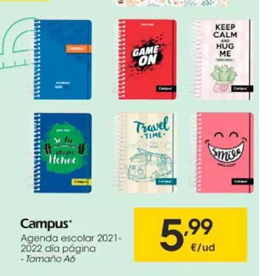 EROSKI Campus Agenda Escolar 2021-2022 Dia Página