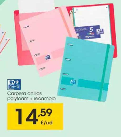 EROSKI Carpeta Anillas Polyfoam + Recambio