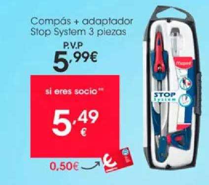 EROSKI Compás + Adaptador Stop System 3 Piezas