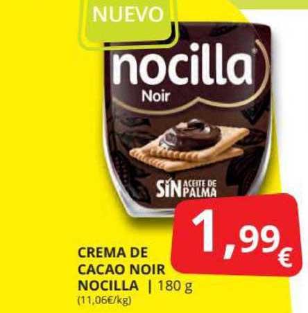 Supermercados MAS Crema De Cacao Noir Nocilla