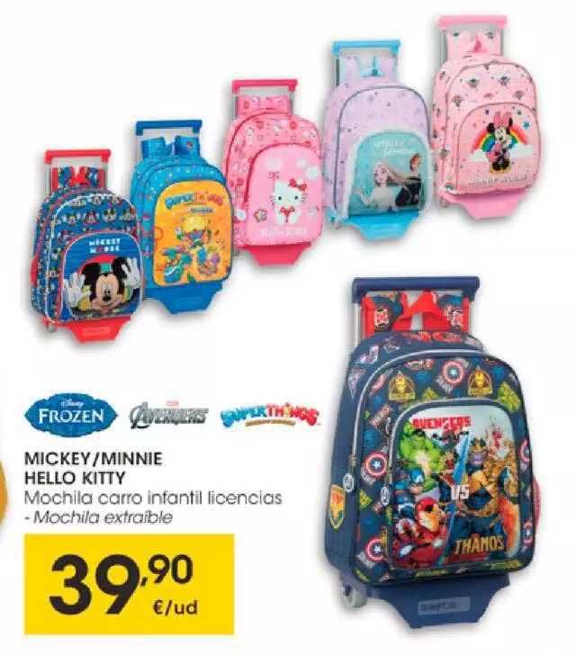 EROSKI Mickey Minnie Hello Kitty Frozen