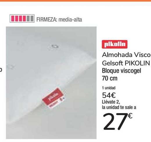 Carrefour Market Almohada Visco Gelsoft Pikolin Bloque Viscogel 70 Cm