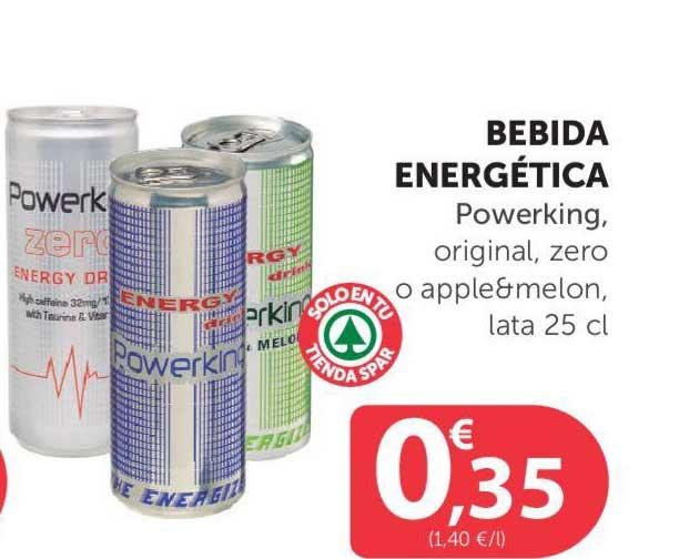 SPAR Bebida Energética Powerking, Original, Zero O Apple&melon, Lata 25 Cl
