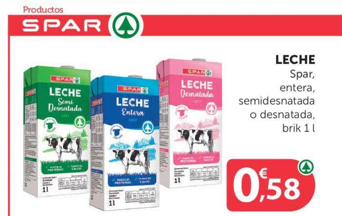 SPAR Leche Spar, Entera, Semidesnatada O Desnatada, Brik 1 L