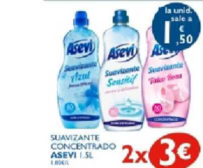 Supermercados La Despensa 2x3€ Suavizante Concentrado Asevi 1.5l