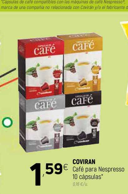 Coviran Coviran Café Para Nespresso 10 Cápsulas