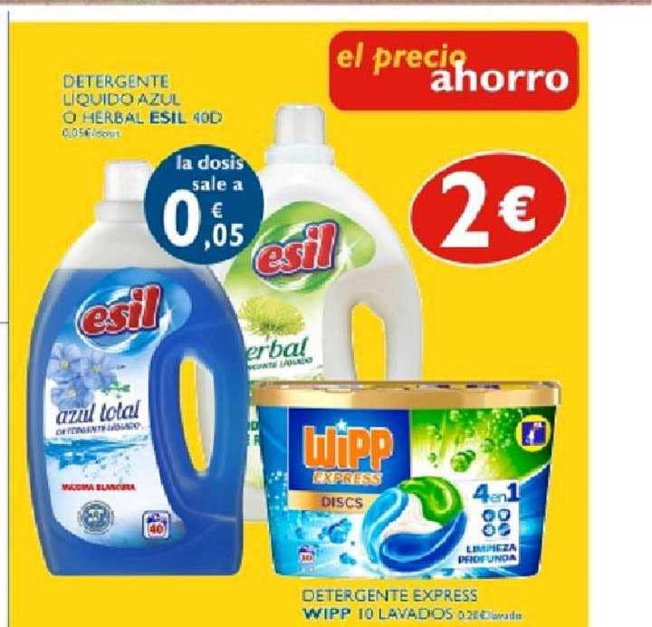 Supermercados La Despensa Detergente Líquido Azul O Herbal Esil 40d ∕ Detergente Express Wipp 10 Lavados