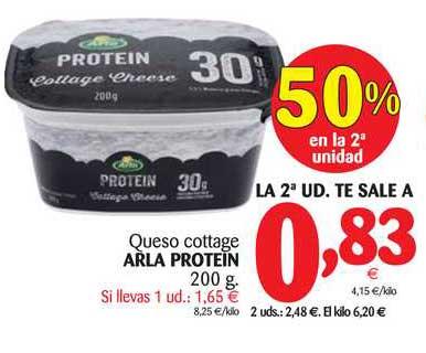 Alimerka 50% En La 2ª Unidad Queso Cottage Arla Protein 200g
