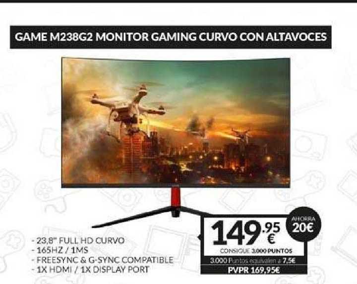 Game Ahorra 20€ Game M238g2 Monitor Gaming Curvo Con Altavoces