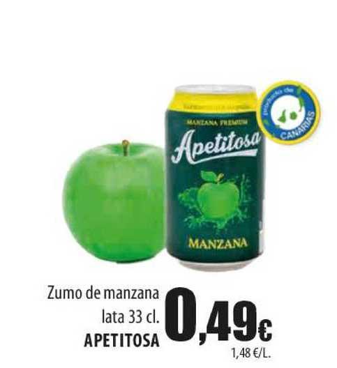 Spar Lanzarote Zumo De Manzana Lata Apetitosa