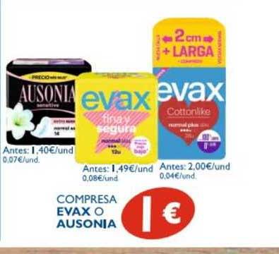 Supermercados La Despensa Compresa Evax O Ausonia