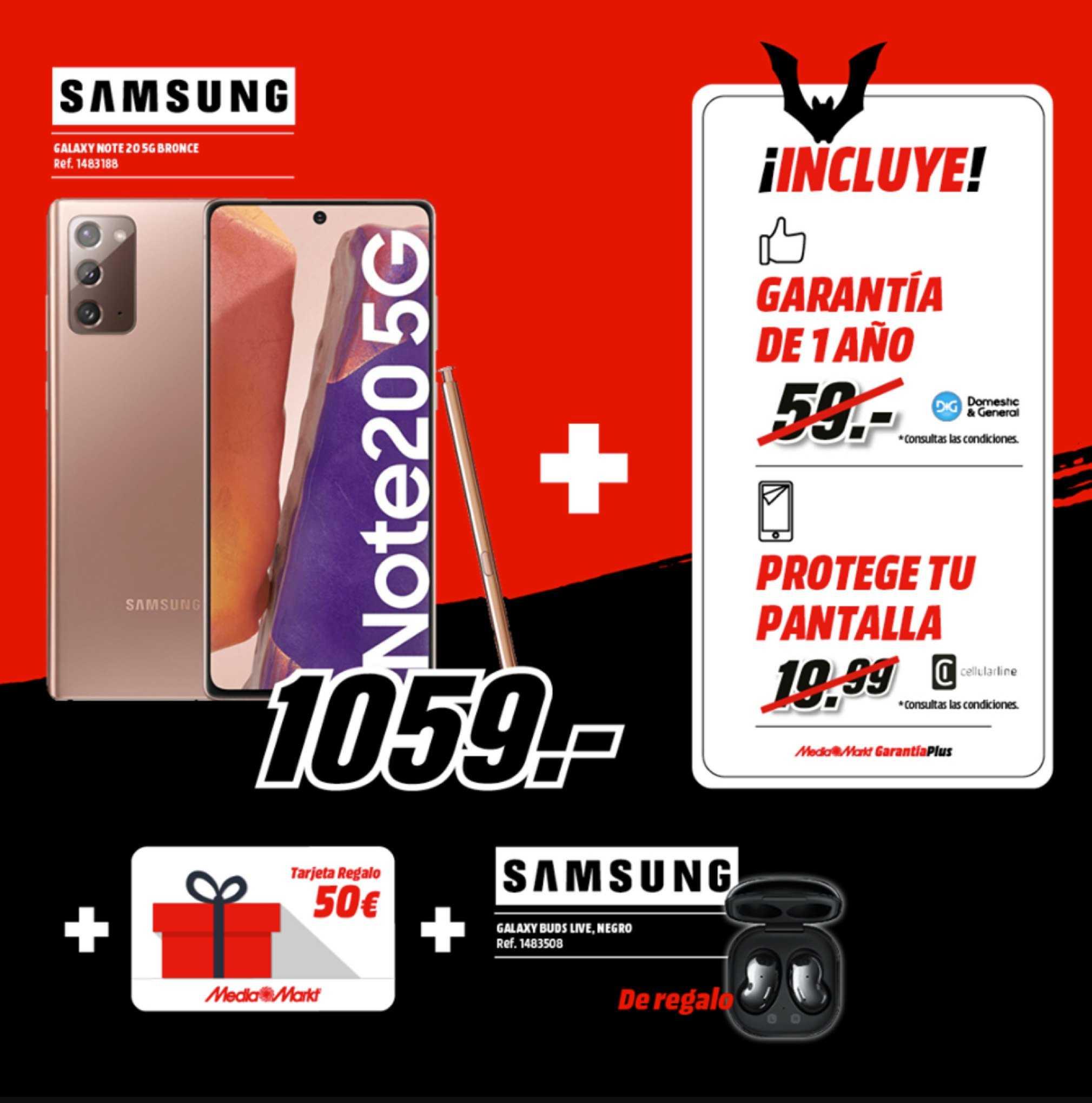 MediaMarkt Samsung Galaxy Note 20 5G Bronce