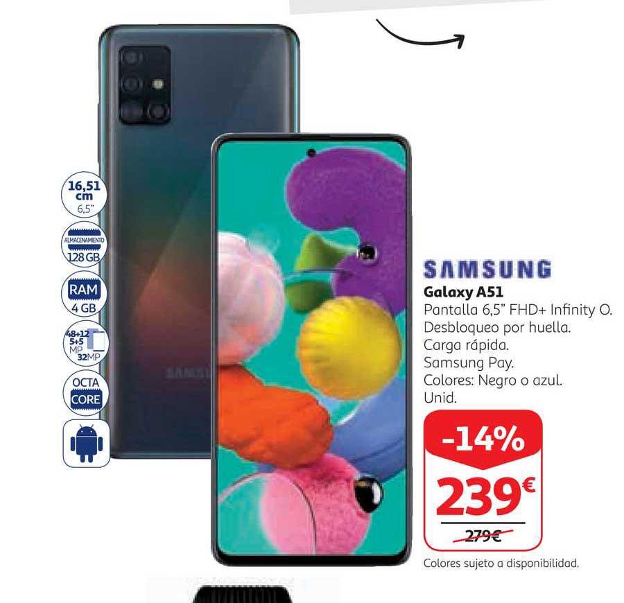 Alcampo -14% Samsung Galaxy A51