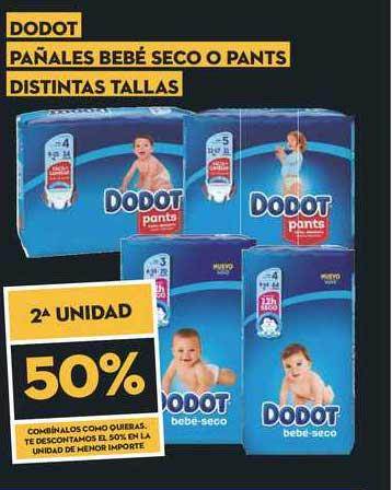 SuperSol 2ª Unidad 50% Dodot Pañales Bebé Seco O Pants Distintas Tallas