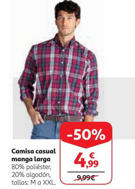 Alcampo -50% Camisa Casual Manga Larga