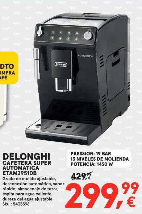 Worten Delonghi Cafetera Super Automatica Etam29510b