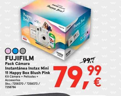 Worten Fujifilm Pack Cámara Instantánea Instax Mini 11 Happy Box Blush Pink