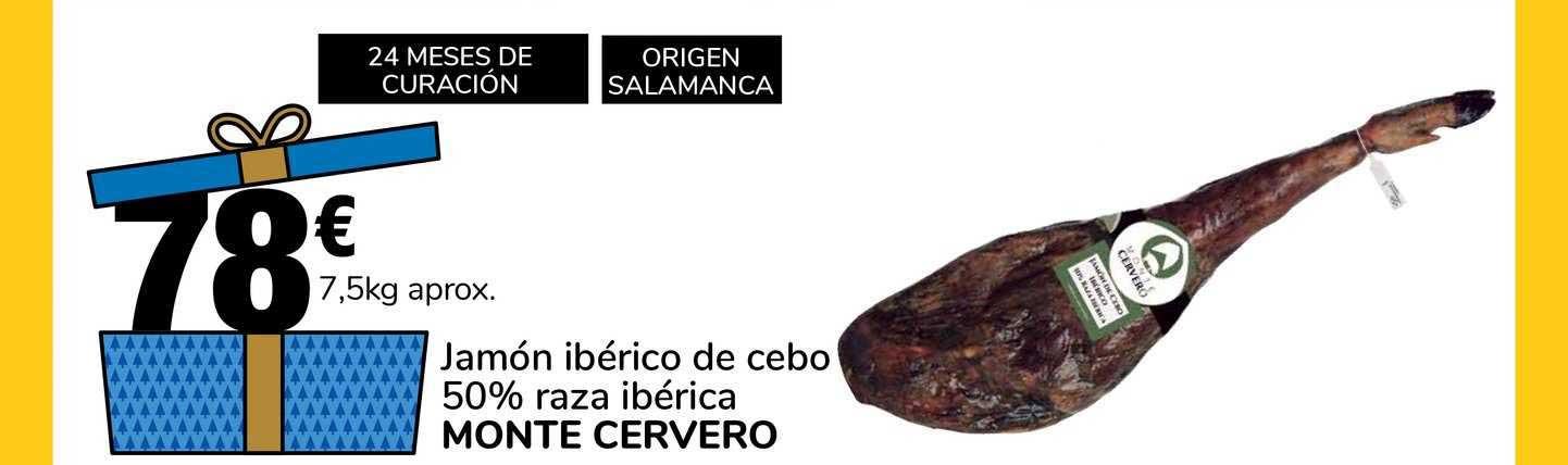 Supeco Jamón Ibérico De Cebo 50% Raza Ibérica Monte Cervero