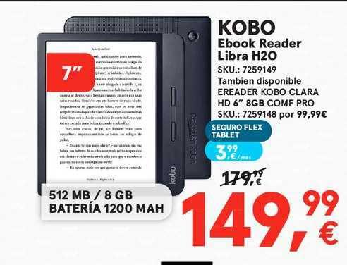 Worten Kobo Ebook Reader Libra H2o
