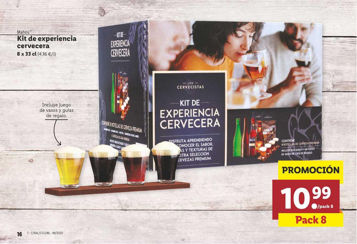 LIDL Mahou Kit De Experiencia Cervecera 8 X 33 Cl