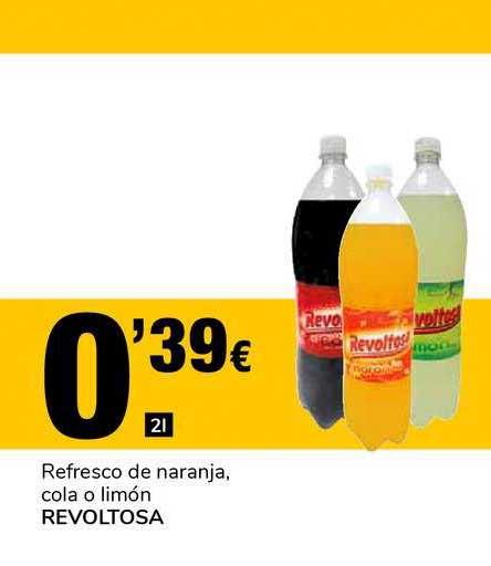 Supeco Refresco De Naranja Cola O Limón Revoltosa