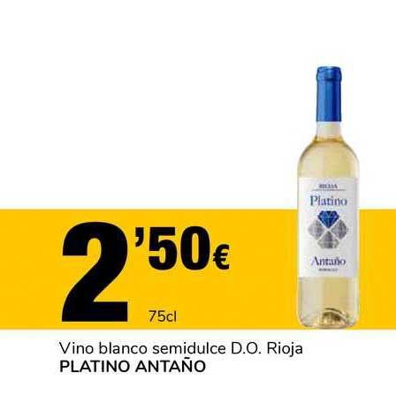 Supeco Vino Blanco Semidulce D.o. Rioja Platino Antaño