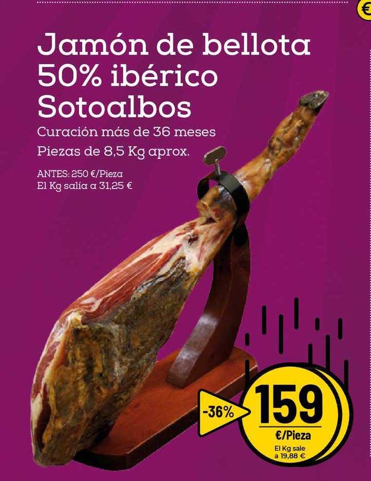 AhorraMas -36% Jamón De Bellota 50% Ibérico Sotoalbos