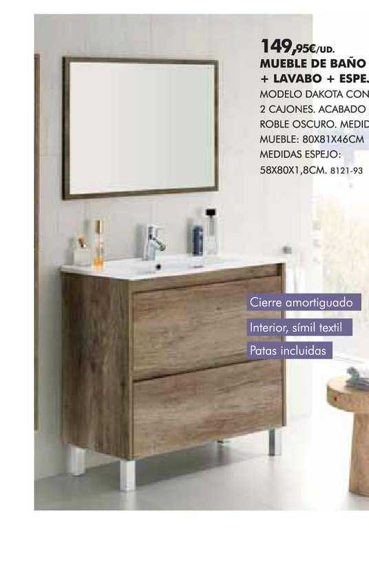 BricoCentro Mueble De Baño + Lavabo + Espejo