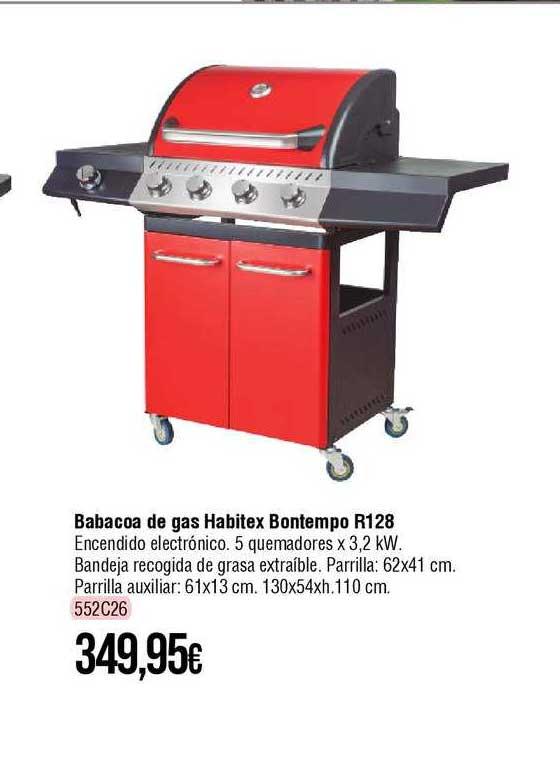 Cadena88 Barbacoa De Gas Habitex Bontempo R128