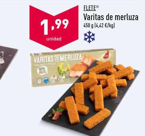 ALDI Flete Varitas De Merluza