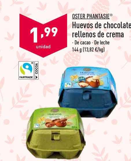 ALDI Oster Phantasie Huevos De Chocolate Rellenos De Crema