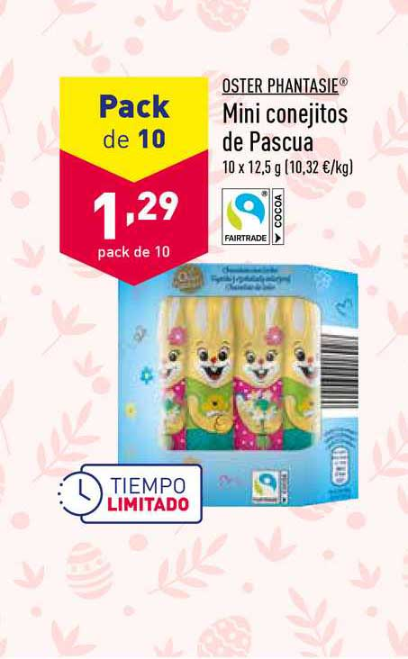 ALDI Pack De 10 Oster Phantasie Mini Conejitos De Pascua