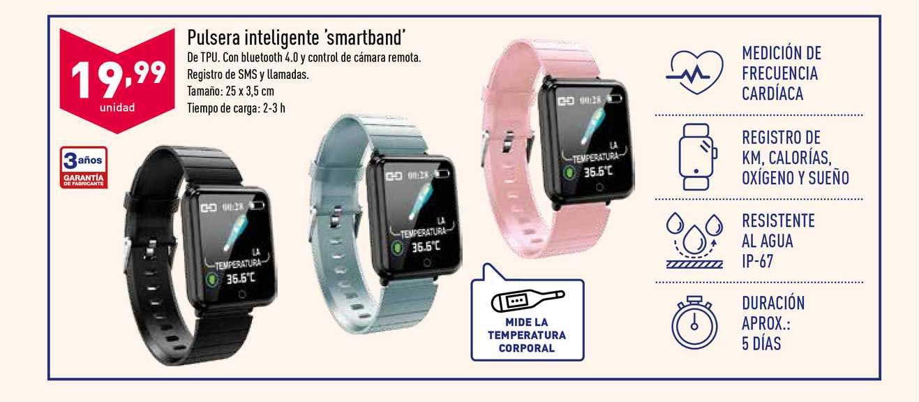 ALDI Pulsera Inteligente 'smartband'