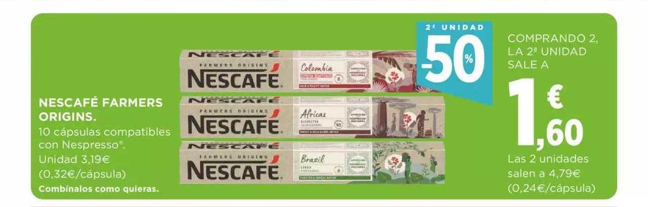 Supercor 2ª Unidad -50% Nescafé Farmers Origins