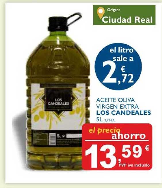 Cash Ecofamilia Aceite Oliva Virgen Extra Los Candeales