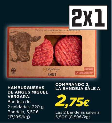 Hipercor 2x1 Hamburguesas De Angus Miguel Vergara