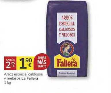 Consum Arroz Especial Caldosos Y Melosos La Fallera 1 Kg
