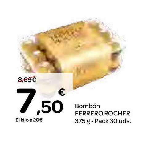 Dialprix Bombón Ferrero Rocher 375 G. Pack 30 Uds.