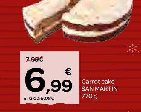 Dialprix Carrot Cake San Martin 770 G