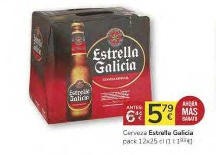 Consum Cerveza Estrella Galicia Pack 12x25 Cl