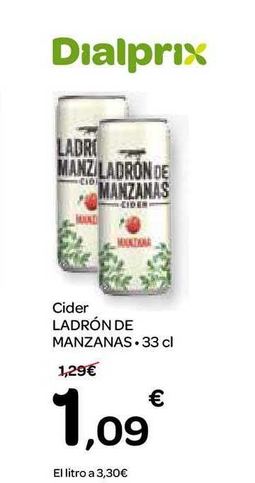 Dialprix Cider Ladrón De Manzanas, 33 Cl