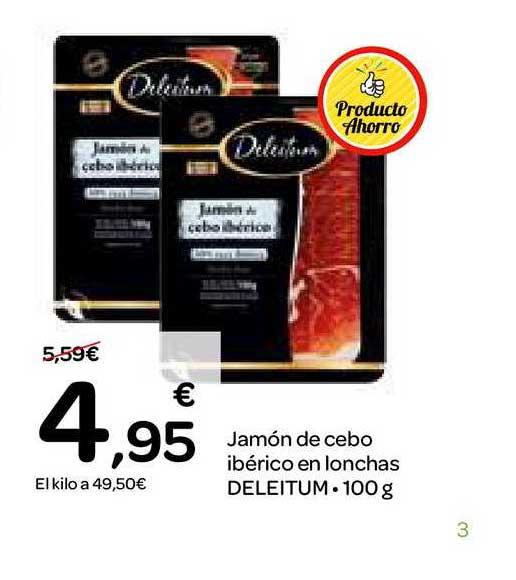 Dialprix Jamón De Cebo Ibérico En Lonchas Deleitum, 100 G