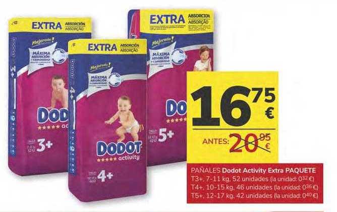 Consum Pañales Dodot Activity Extra Paquete