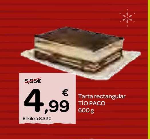 Dialprix Tarta Rectangular Tío Paco 600 G