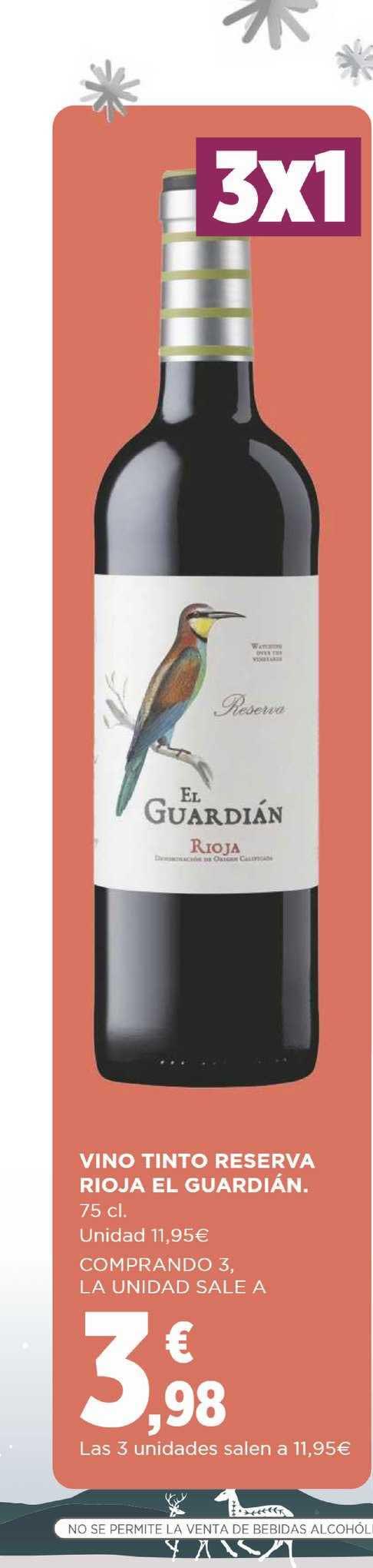 Supercor Vino Tinto Reseva Rioja El Guardián