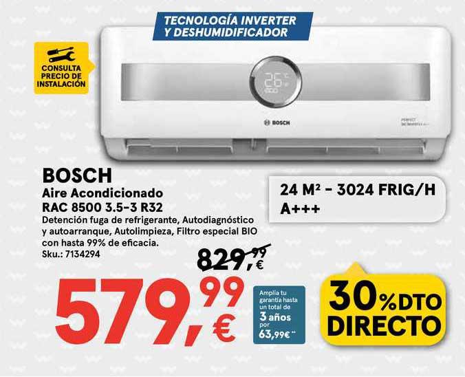 Worten Bosch Aire Acondicionado Rac 8500 3.5-3 R32
