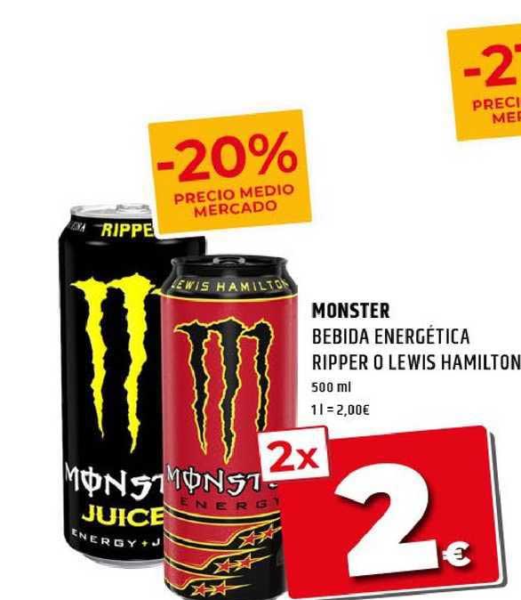 Dealz Monster Bebida Energética Ripper O Lewis Hamilton
